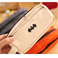 batman brush - Superman Batman Schoolbag Pen Case Makeup Brushes Storage Toiletry Pouch Bag K3093