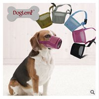 Wholesale 5 colors Breathable Dog Muzzle Nylon Fabric Mesh Mouth Mask Anit Barking Biting S to XXXL frozenc752