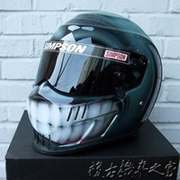 arch smile - Foreign handmade Simpson motorcyclists racing helmet full helmet smiling face painting painted personalized