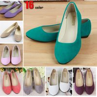 ballet flats - 2015 new Fashion women shoes solid candy color patent PU tip shoes women flats sapatilhas femininos ballet princess shoes casual