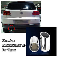 Wholesale New CHROME EXHAUST MUFFLER TIP For Volkswagen VW Tiguan