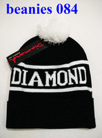 Man beach tags - New Arrival Hotest Diamond Supply Co Beanie Hats with Pom Knitted Wool Warm Winter Caps with tags Women s Knitting beanies