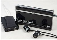 Wholesale 2015 New SPY BUG RECEIVER LISTENING DEVICE wireless voice Transmission mp3 play