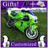 achat en gros de carénages zx7r à vendre-Carénage Kawasaki ZX 7R 1996 1997 1998 1999 2000 2001 2002 2003 1996-2003 96 03 Ninja ZX7R 2003 1996 97 98 99 01 02 vert VENTE CHAUDE