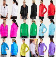 athletic clothes - Lululemon Scuba Coat Pink High Quality Women Yoga Jacket Lulu lemon Athletic Clothing for yoga outfits Sweater