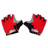 Wholesale Retail Unisex Black Blue Red Half Finger Silky Bicycle Gloves M L XL Drop Ship Available