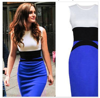 Wholesale 2016 Women Summer Elegant Ladies Sexy Prom Office Dresses star Fashion Celebrity Pencil Work Pocket Party Slim Bodycon OL Dress G0260