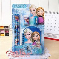 Wholesale Frozen stationery set for Students Office School Supplies Frozen Combined packages