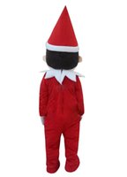 Wholesale Christmas Elf Mascot Costume Adult Size Cartoon Character Costume Fancy Dress