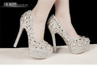 Boots almond ribbon - 2015 New Arrival White Wedding Crystal shoes female winter and autumn short boots