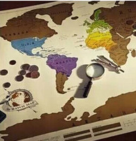 Wholesale 1Piece Scratch OFF MAP Travel Scratch Map x52 cm World Map whole sale price good quality hot selling