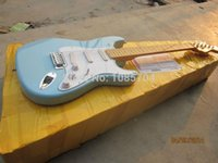 blue guitar - new fen st custom shop electric guitar oem brand sky blue color guitar guitar in china