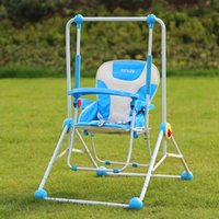 Wholesale 3 Colors Indoor Outdoor Baby Swing Relaxing Chair Oxford Cloth Infant Hanging Dining Chair Multi purpose Foldable Bouncer Swing