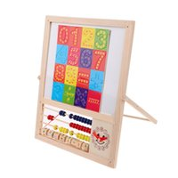 bead threading machine - Kid Sketchers hama beads drawing Magnetic Learning Digital Clock Beads Threading Wooden Educational Toy hot sale