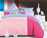 Wholesale Ywxuege spell color for family bedroom Reactive tertiary colours bedding sets reactive printed bedcover set king queen full size Sheet