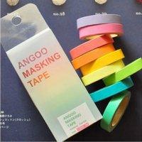 Wholesale NEW x Rainbow Washi Sticky Paper Masking Adhesive Scrapbooking Decorative DIY Tape