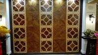 Wholesale Hradwood parquet Custom wood floor Black w Medallion Asian pear Sapele wood floor Private custom wood floor Decorative wood floor Burmese t