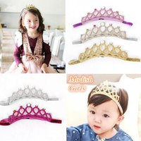 artificial grass green - Modish Girls Baby Girls Glitter Felt Headbands with Colors Crystals Novelty Tiara For Baby Princess