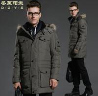 ykk waterproof zipper - Fall Men s Jacket Winter Down Coat Parkas Brand YKK Zipper Thicken Fur Hooded Long Style Waterproof DucK Down xl