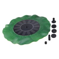 Wholesale 2016 New Lotus leaf Design Solar Powered Floating Fountain Pump Garden Pool Pond Decor