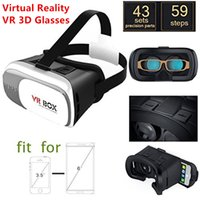 Wholesale 2016 Version Virtual Reality VR D Glasses google cardboard VR D Glasses For inch Smartphone bluetooth controller