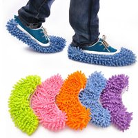 Wholesale Non Slip Cover Clean Clothe Cleaning Floor Chenille Microfiber Shoes Overshoes Floorcloth Wiping Slipper Mop