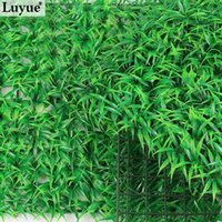 Wholesale Luyue artificial Green grass mat plastic fake plants lawn Encryption Turf Aquarium Ornament Sod home garden decoration