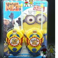 Wholesale New hot Despicable me Minions walkie talkie children s educational toys birthday gifts set