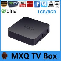 Wholesale MXQ Android TV Box Quad Core Amlogic S805 MXQ Media Player With XBMC KODI Fully Loaded Update Smart TV Box
