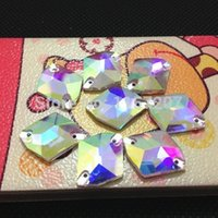 Wholesale 11x14mm x17mm x21mm x27mm Cosmic shape Sew on Rhinestone crystal AB Fancy stone for Dress Making