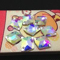 ab music - 11x14mm x17mm x21mm x27mm Cosmic shape Sew on Rhinestone crystal AB Fancy stone for Dress Making