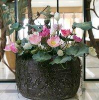big pond - 11pcs cm big size beautiful artificial open lotus silk decorative flower for artificial river pond hall home decoration
