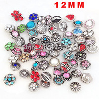 Wholesale Mix color mm Snaps Jewelry Button For DIY Bracelet Necklace Charms Snaps Charms noosa snap button charms Metal E324J