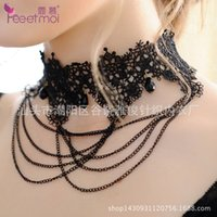 Wholesale Ladies Club Sexy Lingerie Sexy retro fashion jewelry and lace collar collar clavicle fake accessories