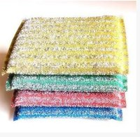 Wholesale Microfiber cloth dish cloth silk kitchen sponge cleaning supplies