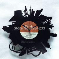 analog clock themes - LP Vinyl CD clock originality art garniture clock Toronto theme eternity reminiscence silence clock mechanism