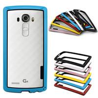 Wholesale Soft Gel Hybrid Protection Bumper Cover Case Frame For LG G4