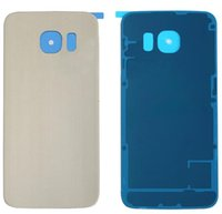 adhesive carrier - OEM Battery Door Back Cover Glass Panel with Adhesive Preinstalled For Samsung Galaxy S6 Edge G925A G925T G925V for All Carriers