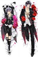 anime body pillow case - Japan Anime Kuroshitsuji Black Butler Sebastian Michaelis amp Ciel Decorative Hugging Body Pillow Cover Case Double sided