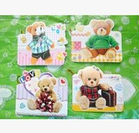 Wholesale Free ship pc Student stationery cartoon greeting blessing card cartoon bear small card message hanging card order lt no tracking