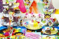 party supplies - on sale dora Luxury Kids Birthday Party Decoration Set Theme Party Supplies Baby Birthday Party Pack