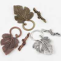 toggle clasps - New Tibetan Silver Bronze Copper Grape Leaf Toggle Clasps Jewelry Findings