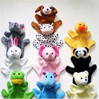 Wholesale 10 Animal Finger Puppet Plush Hand puppets Children Learning Education Toys