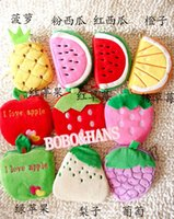 Cheap Cute fruit Portable Wallet coin purse Japan Style Gift Wholesale