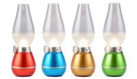 Wholesale LED Lamp With motion sensor Lighting Led Bulb Sensor Switch USB Rechargeable Blowing Kerosene LED Candle Lamp