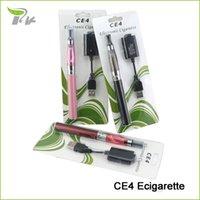 Wholesale Cheap electronic cigarette smoking ego ce4 e cigarette vaporizer vapes e cig starter kit blister pack mAH cigarro eletronico