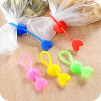 aluminum food safety - High Quality CM Long Stripes Love Shape Silicone Plastic Bag Clip Food Sealing Strong Clip Safety Kitchen Tools Beam Cable Tie