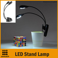 Wholesale Black Clip on Dual Arms LED Flexible Reading lamp Book Light for Music Stand ebook LAPTOPS