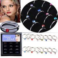 Wholesale G Hot Stainless Steel Nose Open Hoop Ring Earring Body Piercing Jewelry