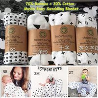 Wholesale 47 INCH Baby Organic Cotton Bamboo Muslin Swaddle Blanket modern burlap multi use ins blanket infant parisarc newborn baby wrap